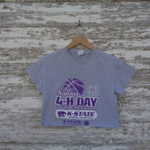 No. 129 K-State 4H Crop Top T-Shirt Small